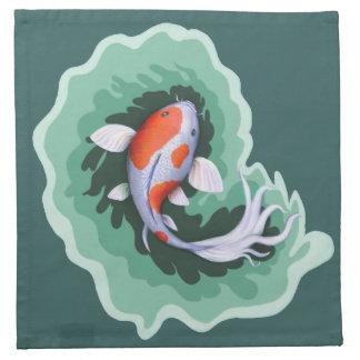 Spotted Orange & White Koi Fish Napkin