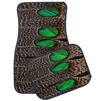 Spotted pheasant feather pattern car mat