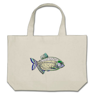 Spotted Piranha Canvas Bags