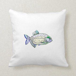 Spotted Piranha Pillow
