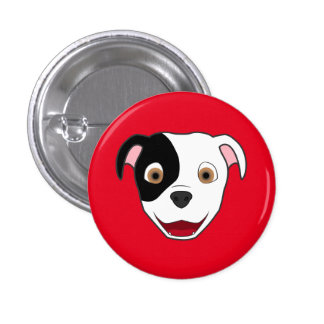 Spotted Pitbull Face 3 Cm Round Badge