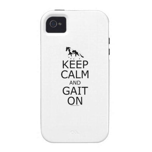 Spotted Saddle Horse Keep Calm Gait On Vibe iPhone 4 Cases