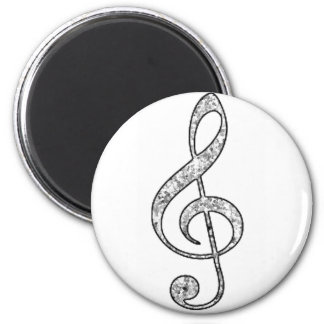 Spotted Treble Clef 6 Cm Round Magnet