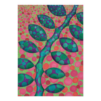 Spotted Vine Abstract Art Print