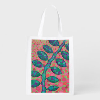Spotted Vine Grocery Bag Grocery Bags