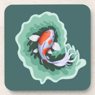 Spotted Whimsical Koi Fish Coaster