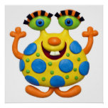 Spotted Yellow Monster Baby Boy Shower Nursery