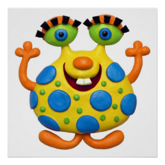 Spotted Yellow Monster Print