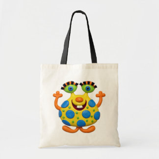 Spotted Yellow Monster Tote Bag