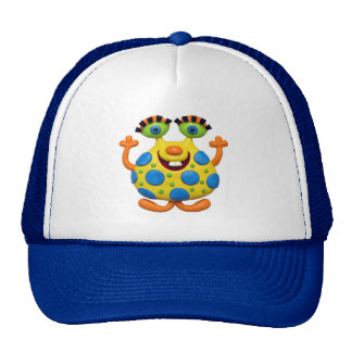 Spotted Yellow Monster Trucker Hat