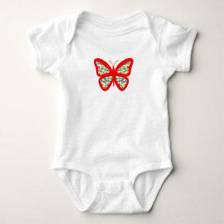 Spotty, colourful, butterfly, baby bodysuit