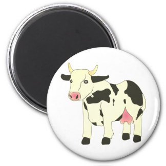 Spotty Cow 6 Cm Round Magnet