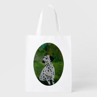 Spotty Dog Art Dalmatian Reusable Grocery Bag