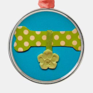 Spotty Dog Bone -k.jpg Christmas Ornament