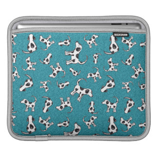 Spotty Dog Pattern on Blue iPad Sleeve