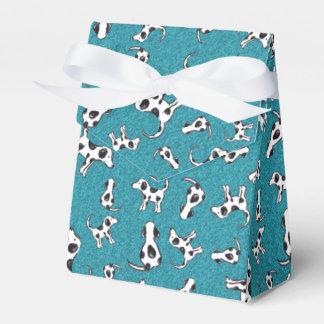 Spotty Dog Pattern on Blue Tent Favour Box