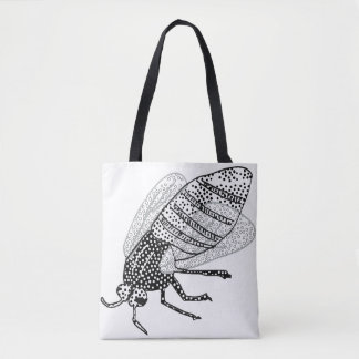 Spotty fly tote bag