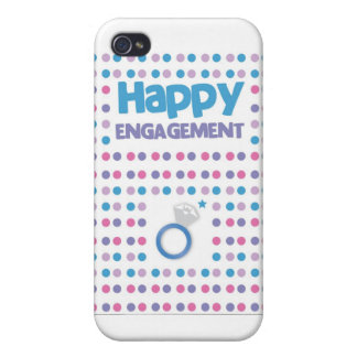 Spotty Happy Engagement greeting card iPhone 4 Covers