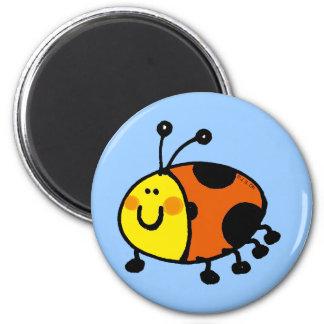 Spotty ladybug 6 cm round magnet