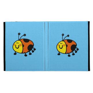 Spotty ladybug iPad folio cases