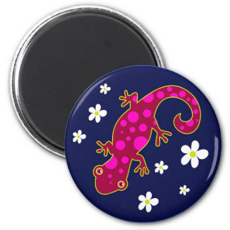 Spotty Lizard 6 Cm Round Magnet