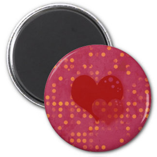 Spotty Love 6 Cm Round Magnet