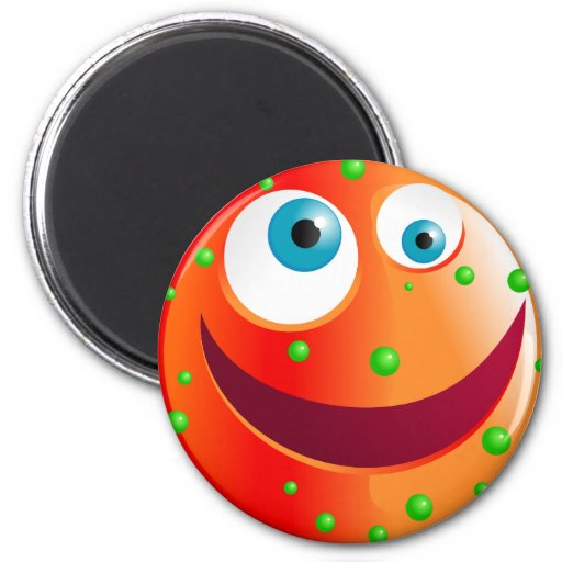 Spotty Red Smilie Magnet