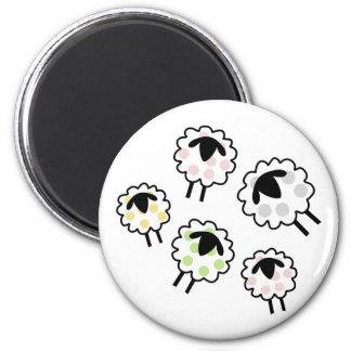 Spotty Sheep Fridge Magnet