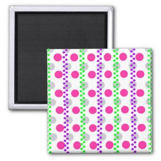 Spotty Stripe 2014 Square Magnet