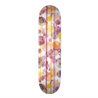 Spotty Striped White Pattern Skate Boards