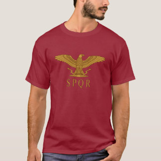 SPQR Eagle Gold Dark T-Shirt