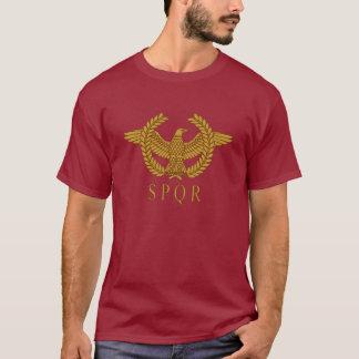 SPQR Eagle Laurel Gold Dark T-Shirt