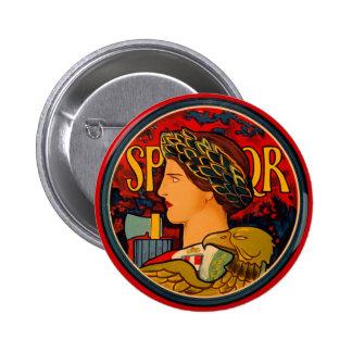 SPQR Italian Emblem 6 Cm Round Badge