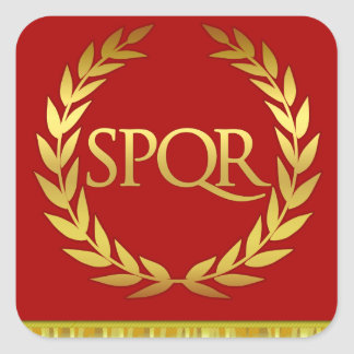 SPQR Square Roman Sticker
