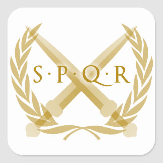 SPQR Symbol Square Sticker