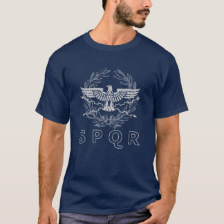 SPQR The Roman Empire Emblem T-Shirt