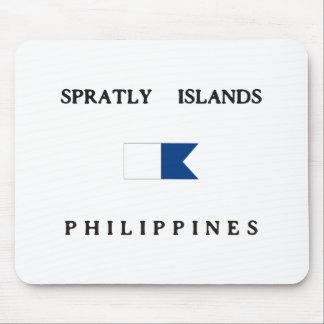 Spratly Islands Philippines Alpha Dive Flag Mousepad