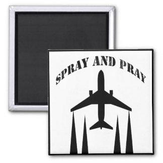 spray-and-pray chemtrails fridge magnet