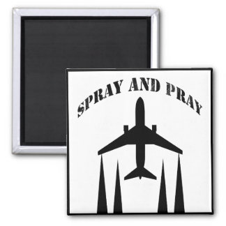 spray-and-pray chemtrails square magnet