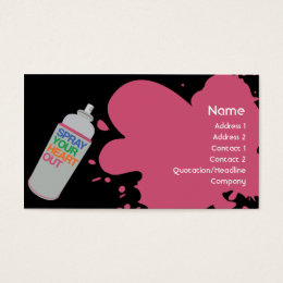 Spray paint business cards business card printing zazzle uk spray business business card colourmoves