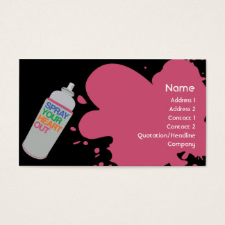 Spray - Business Business Card