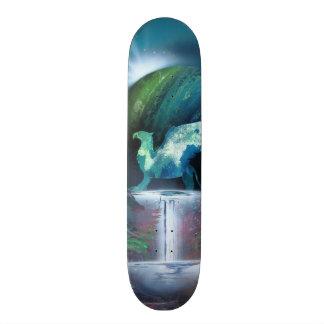 Spray can art print skateboard deck