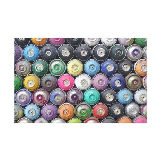 Spray cans canvas print