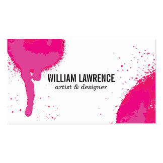 Spray | Expressive (hot pink) Pack Of Standard Business Cards