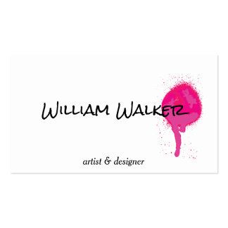 Spray | Expressive II (hot pink) Pack Of Standard Business Cards