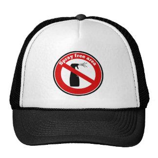 Spray free area sign trucker hat