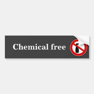 spray free chemical free bumper sticker