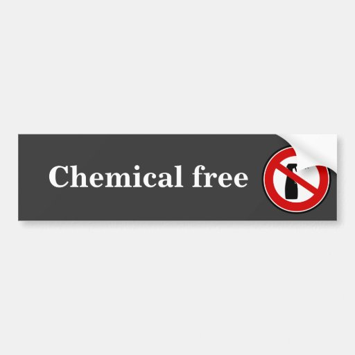 spray free chemical free bumper sticker