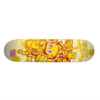 Spray gun skateboard deck