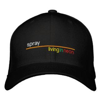 Spray 'Living In Neon' baseball cap